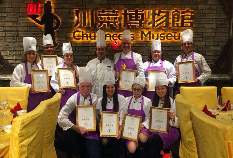 Getting Certificate After Cooking Class in Sichuan Cuisine Museum
