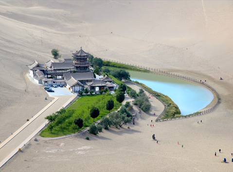 The Crescent Lake of Dunhuang