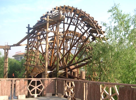 The Waterwhell in Yellow River Ancient Waterwheels Park