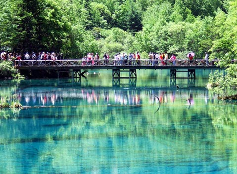 The Mirror Lake of Jiuzhaigou