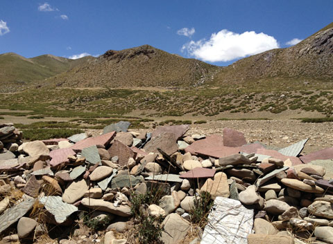 Mani Stones in Mount Kailsh
