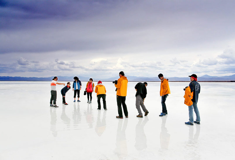 Chaka Salt Lake of Qinghai Province