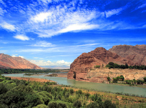 Yellow River in Guide, Qinghai