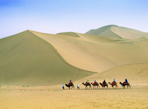 The Echoing-Sand Mountain in Dunhuang