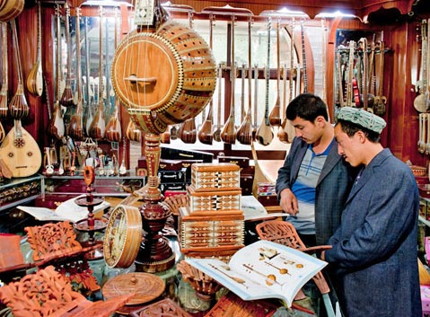 The Musical Instrument Shop of Xinjiang