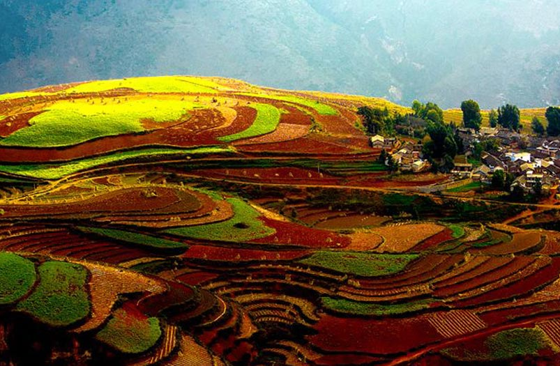 Dongchuan Red Land in Luoxiagou Valley
