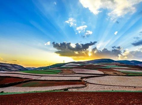 Dongchuan Red Land Sunrise