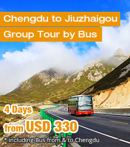 Chengdu to Jiuzhaigou Bus Tour