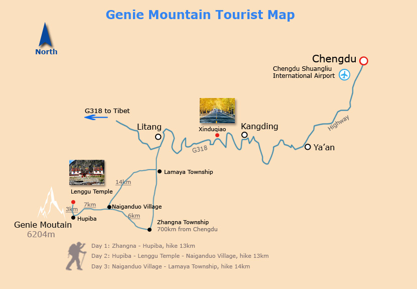 Map of Genie Mountain