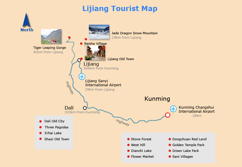 Lijiang Tourist Map