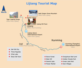 Map of Lijiang