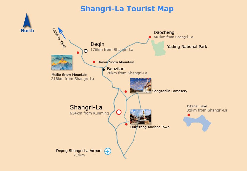 Shangri-La Tourist Map