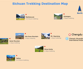 Map of Sichuan Trek & Camp