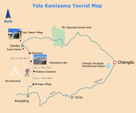 Map of Yala Kamiyama