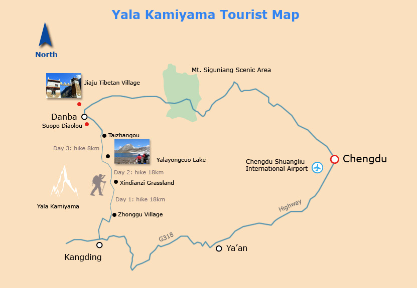 Yala Kamiyama Tourist Map
