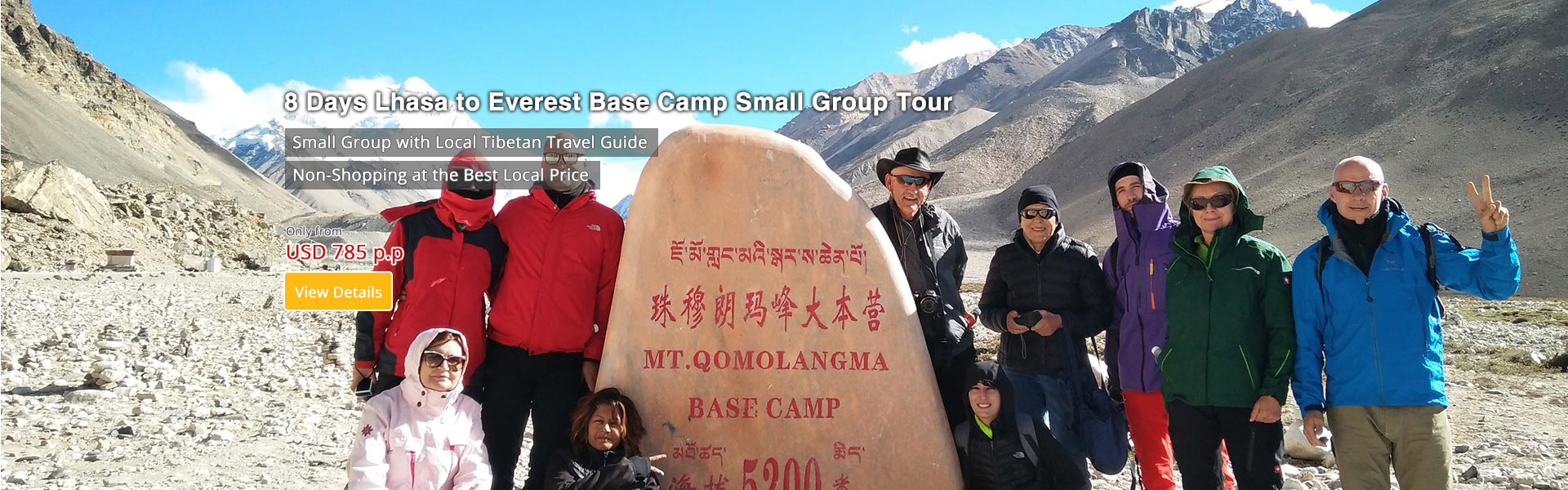 8 Days Lhasa to Everest Base Camp Group Tour