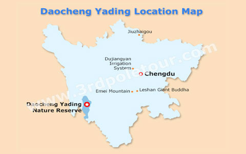 Daocheng Yading Travel Maps