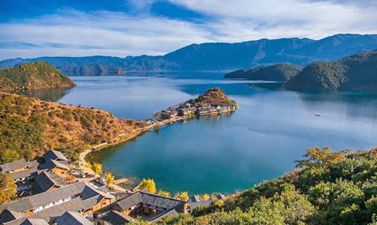 Lijiang Lugu Lake, Yunnan Province of China